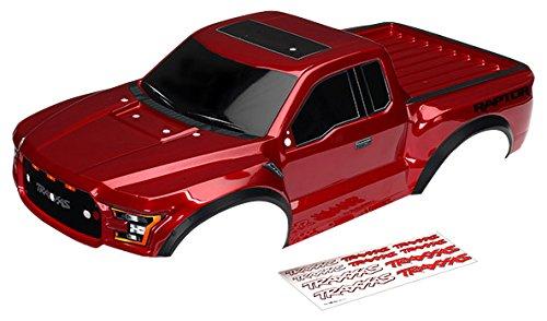Traxxas 5826R 1/10スケール 2017 フォード ラプターボディ レッド/ブラック B0734HMBKF