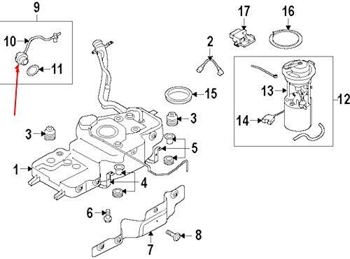 GTV INVESTMENT 8K0201550K Couvercle de r/éservoir de carburant A4 B8 2.0 TDI