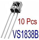 10PCS 1838Infrared Receiver Infrared Sensor IR Infrared Receiver (TL1838VS1838B HX1838)