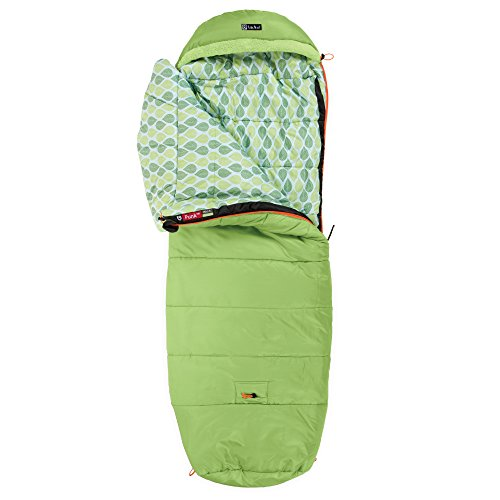 Nemo Punk 20-Degree Kids' Sleeping Bag, Sprout/Birch Leaves (Creek Spring Water Cold)