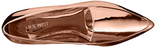 Nine West Women's Abay Patent Pointed Toe Flat Bronze 8nFsRV