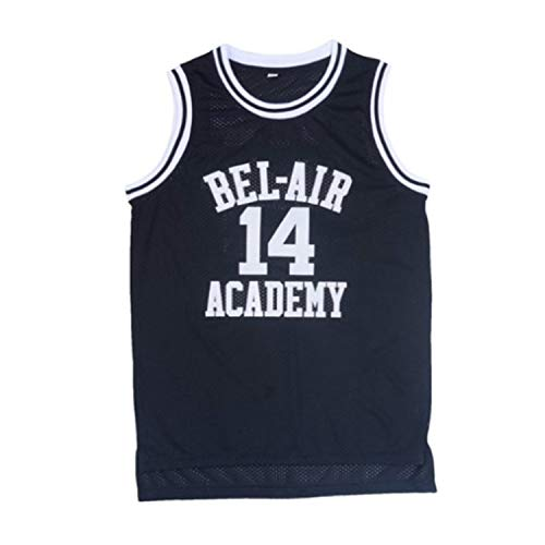 oldtimetown Will Smith #14 Bel Air Academy Black Basketball Jersey S-XXXL, 90S Clothing for Men, Stitched Letters and Numbers