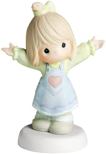 Precious Moments, Mother s Day Gifts, I Love You This Much , Girl, Bisque Porcelain Figurine, 4001668