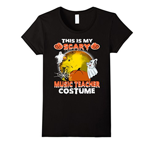Womens This is My Scary Music Teacher Costume Halloween shirt XL (Cute Mother And Daughter Costumes)