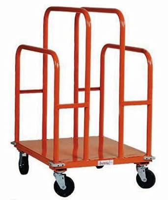 "SPG UC2630-L1 Gillis/Jarke Panel and Lumber Cart, Welded Steel, 1200 lbs Capacity, 30"" Length, 26"" Width, 44-3/4"" Height, 5"" 2-Swivel/2-Rigid Polypropylene Wheels"