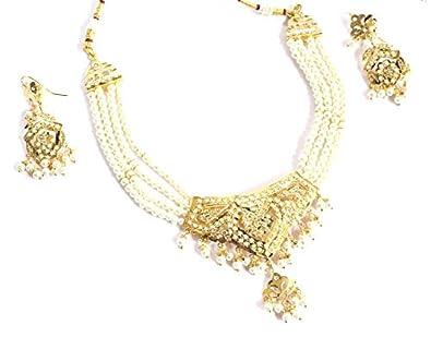 Amazon Com Jadau Bridal Necklace Choker Pakistani Indian Punjabi