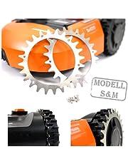 - BEOS - 2 x premium roestvrij stalen spikes voor model Worx S/M en Landxcape + 12 x roestvrijstalen schroeven - tractieverbetering voor robotmaaier - grasmaaier robot wielmaat 205 mm