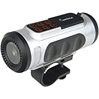 Impecca Bluetooth Bicycle Speaker with Headlight (Silver)