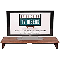 RED OAK STAINED SOUND BAR TV RISER 40 WIDE X 12 DEEP X 5 1/2 HIGH -Solid, real wood, Safe TV Riser