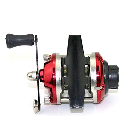 Reel Red Baitcast - Refaxi Mini Metal Casting Winter Ice Fishing Reel Wheel Baitcast Roller with Wire (Red)