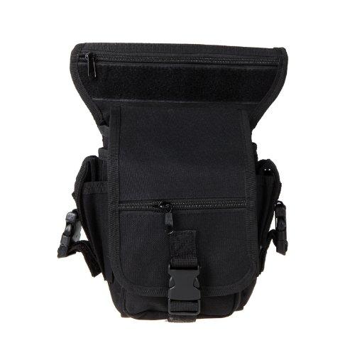 Belt Drop (Docooler Drop Leg Bag Motorcycle Outdoor Bike Cycling Thigh Pack Waist Belt Tactical Bag Multi-purpose (Black))