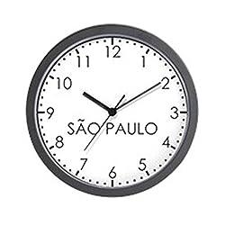 CafePress SAO PAULO Modern Newsroom Wall Clock - Standard Multi-color