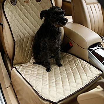Uniqus Nonslip Folding Waterproof Car Vice Driving Seat Cover Pet Cat Dog Cushion Mat, Size  58 x 45 x 45 cm (Apricot)