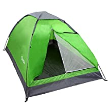 Yodo Lightweight 2 Person Camping Backpacking Tent With Carry Bag, Green