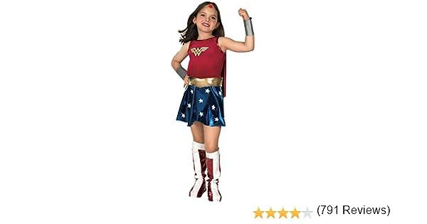 WONDER - Disfraz de mujer maravilla para niña, talla S (3-4 años ...