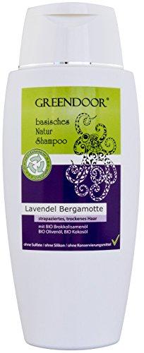 Greendoor Natur Shampoo Lavendel-Bergamotte 200ml, basische BIO Haarpflege ohne Sulfate & ohne Silikon & ohne Konservierungsmittel