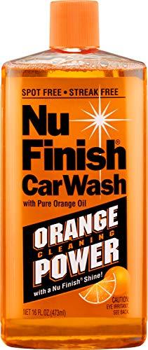Nu Finish E301656400 Car Wash Soap, No Spots Or Streaks, Pure Orange Oil Formula, Removes Tar, Tree Sap, Bugs, Bird Droppings, 16 oz, 16. Fluid_Ounces