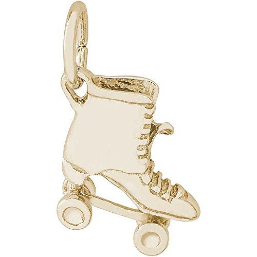Rembrandt Charms Roller Skate Charm, 14K Yellow Gold Skate 14k Gold Charm