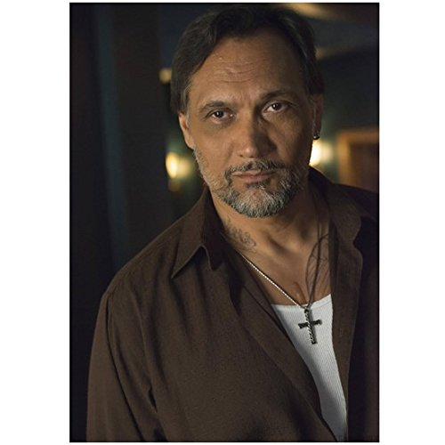 Sons of Anarchy 8x10 Photo Jimmy Smits Handsome in Brown Shirt White Undershirt Crucifix Necklace (Son Crucifix)