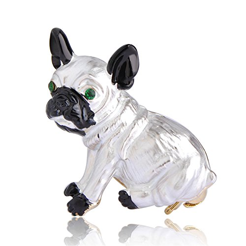 Orchid Pendant Lighting - Feroni Cute Pug Dog Brooches Green Eyes Animal Corsage Pins Kids Girls Shirt Coat Clips Brooches Clothes Accessories Jewelry white