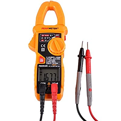 Smart Digital AC Current Clamp Meter 6000 Counts Auto Scan LCD Multimeter Voltage Resistance Continuity Measurement Tester