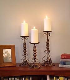 Wrought Iron Candle Holder - Set of 3