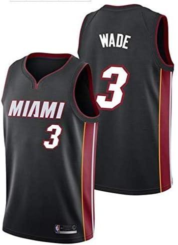Basket Jersey Maglia Canotta Miami Heat #3 M Nero City Edition Un Nuovo Tessuto Ricamato Lalagofe Dwayne Wade Stile di Abbigliamento Sportivo