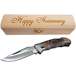 Brass Honcho Personalized Gifts for Men | Engraved Pocket Knife | Custom Engraved Handle and Gift Box | Great Last Minute Gift