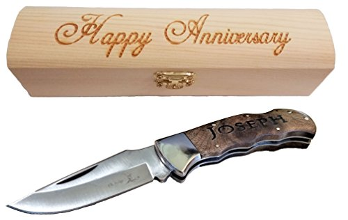 Brass Honcho Personalized Gifts for Men | Engraved Pocket Knife | Custom Engraved Handle and Gift Box | Great Last Minute -