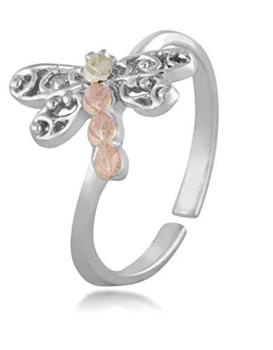 Dragonfly Toe Ring, Sterling Silver, 12k Green Gold and 12k Rose Gold Black Hills Gold by Black Hills Gold Jewelry (Image #1)
