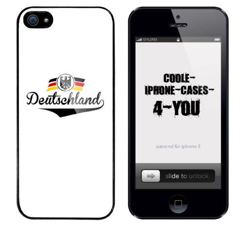 Iphone 5 Case Deutschland Rahmen schwarz