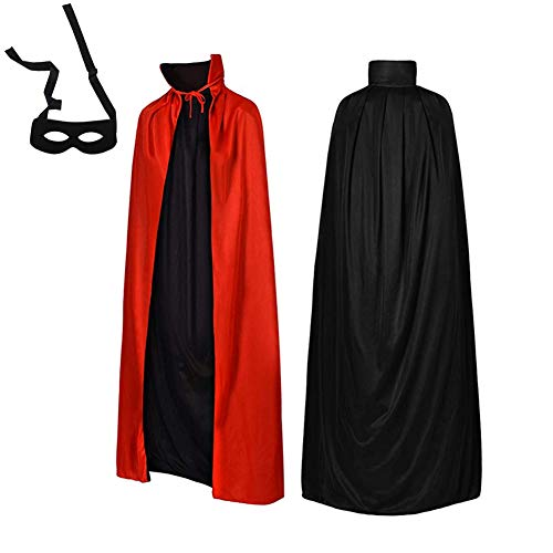 F.O.T Vampire Cape Halloween Hooded Cloak Robe Costume Red Black Medieval Easter Christmas Party Cosplay 29.5