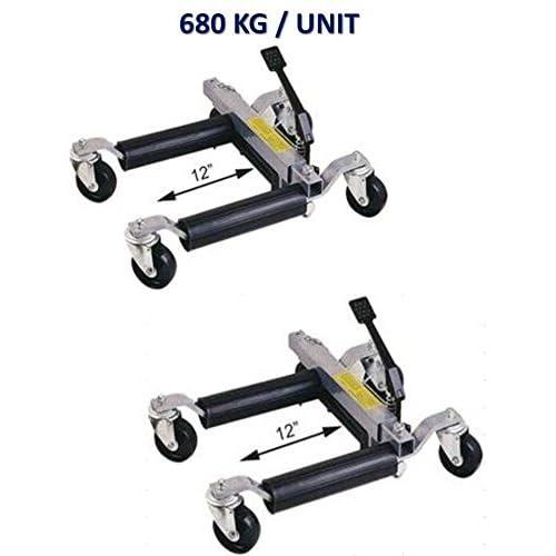 #TM//YDQ1500-12 Paire de Chariots Go Jack Hydraulique 680 kg Cric de Deplacement Positionnement