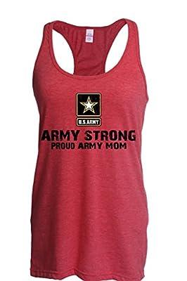 ARTIX U.S. Army Star Army Strong Proud Army Mom Ladies' Slim Fit Racerback Tank