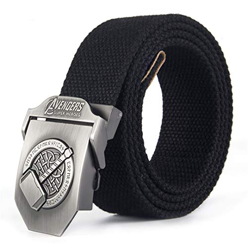 (OutdoorZhShi Casual Canvas Military Tactical Belt Men's Style Army SWAT Metal Buckle Canvas Strap Belt 07 95cm)
