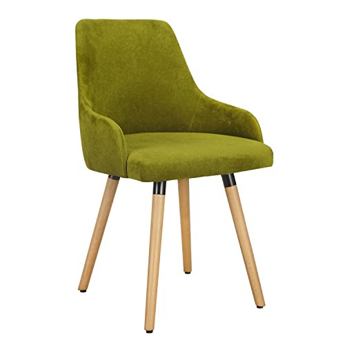 Homebeez Fabric Mid-century Modern Accent Leisure Chair (Single) (Green)