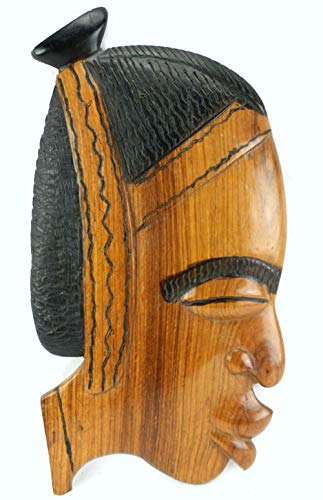 afriqueartdecoration.com Pared máscara Deco Madera de Teca ...