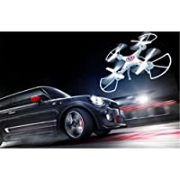 BININBOX 6 Axis Gyro RC Headless Quadcopter Drone With HD Camera Training LED Flash Light White Wifi Remote Controller