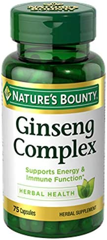 Ginseng by Nature s Bounty, Ginseng Complex Capsules Supports Energy Immune Function, 75 Capsules