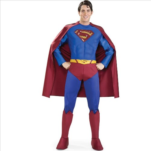 [Rubie's Supreme Muscle Chest Superman Halloween Adult Costume, X-Large | 888021] (Superman Clark Kent Halloween Costume)