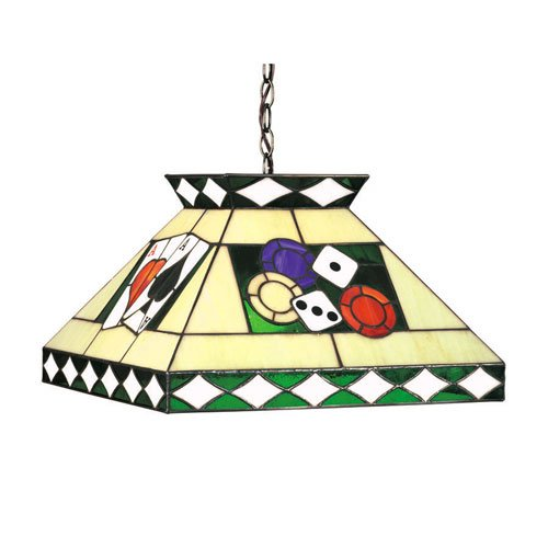 18 Inch Pendant Light w Square Glass Shade