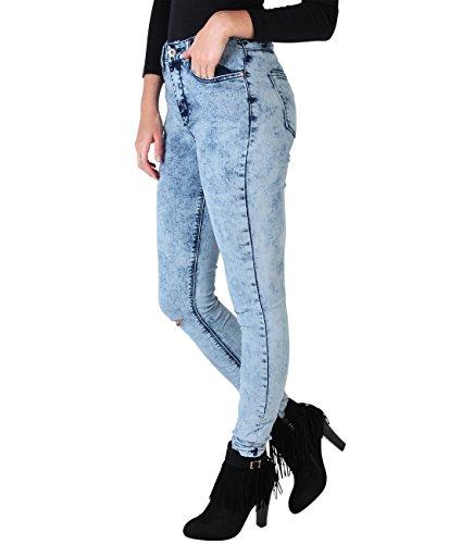 Casual Jeans Caldi Donna Blau Krisp Denim Pantaloni 7439 I1xRH