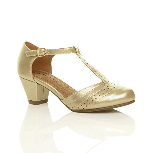 Cut Shoes Gold Women Pumps T Court Ajvani Out Mid Size Bar Heel zw7qdd8Ptx