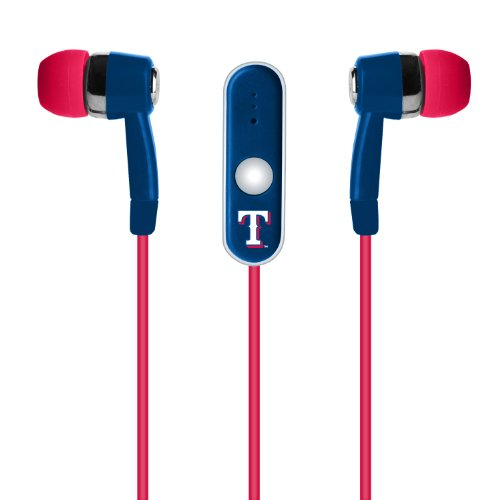 MLB Texas Rangers Hands Free Ear Buds with -