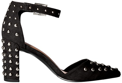 D'Orsey Women's Black Heel Studded Suede Polyurethane Pump Qupid Chunky nAqCng