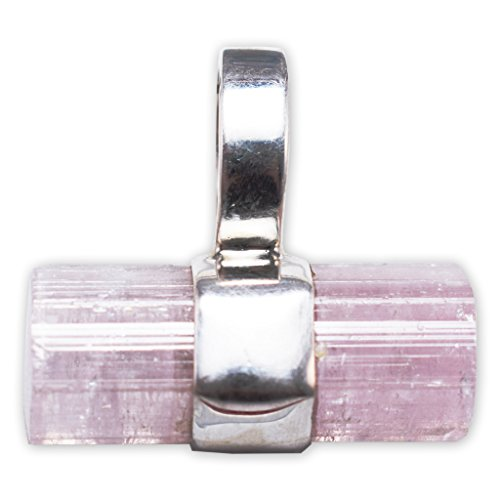 Pink Tourmaline Pendant Necklace by Stones Desire by Starborn Creations