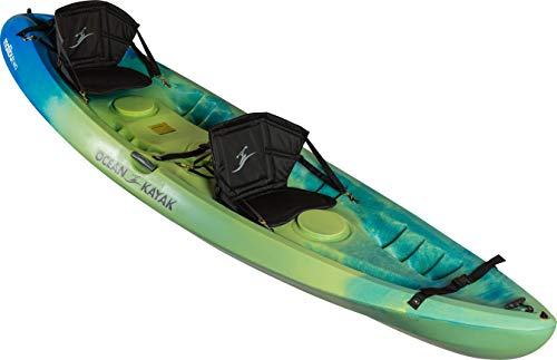Ocean Kayak Malibu Two Tandem Sit-On-Top Recreational Kayak, Envy, 12 Feet