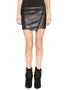 Husna Salsabil Kouri's Shop Christmas Gifts 9050774J042252150QK Patchwork Asymmetric Faux-Wrap Pencil Skirt Black Size XXL