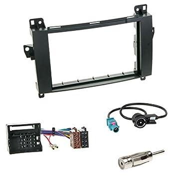 Auto Radio Blende Einbau Rahmen 1-DIN schwarz für Mercedes A Klasse W169 C169