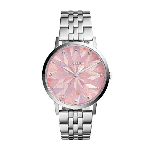 265c1a291667 Fossil mujer reloj es4167 Rosé Esfera Acero Inoxidable Pulsera  Amazon.es   Relojes